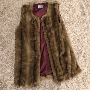 RUFF HEWN Oversized Fur Vest